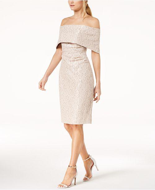 befe8f05 Vince Camuto Lace Off-The-Shoulder Sheath Dress & Reviews - Dresses ...