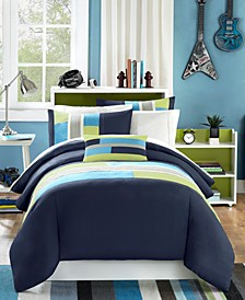Pipeline 4-Pc. Full/Queen Duvet Cover Set