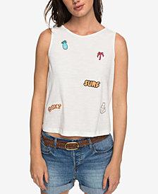 Roxy Juniors' Cotton Lace-Up-Back Top