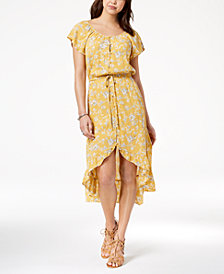 Yellow Floral Summer Dresses Macy S