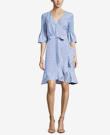 ECI Striped Wrap Dress
