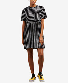 Volcom Juniors' Borabordo Striped Babydoll Dress