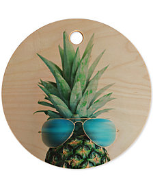 Deny Designs Chelsea Victoria Pineapple In Paradise Cutting Board