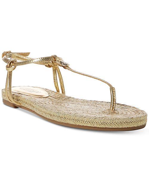 b385fd30a45418 Lauren Ralph Lauren Makayla Flat Espadrille Thong Sandals   Reviews ...