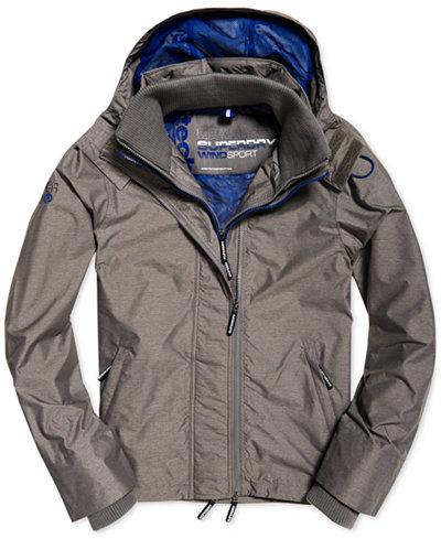 Superdry Men's Pop Zip Hooded Windcheater Jacket