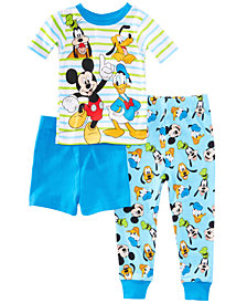 Disney's® Mickey Mouse 3-Pc. Best Pals Cotton Pajama Set, Toddler Boys