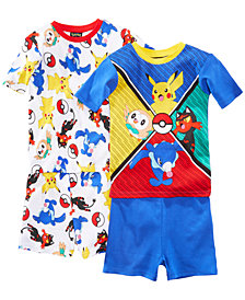 Pokemon 4-Pc. Pokéball Cotton Pajama Set, Little Boys & Big Boys