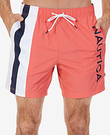 "Nautica Men's Colorblocked 6"" Swim Trunks"