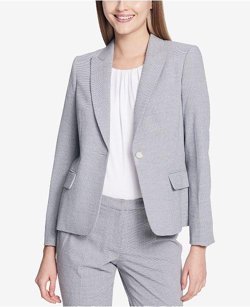 Calvin Klein One Button Seersucker Jacket Reviews Jackets