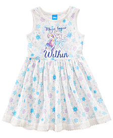 Disney's® Frozen Snowflake-Print Dress, Little Girls