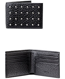 Hugo Boss Men's Studded Leather Bifold Wallet