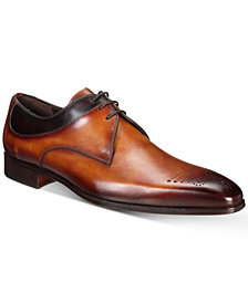 Massimo Emporio Men's Multi-Seam Colorblocked Leather Oxfords, Created for Macy's