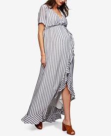 Rachel Pally Maternity Striped Maxi Dress