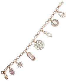 Ivanka Trump Gold-Tone Stone & Crystal Charm Bracelet