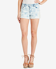 Jessica Simpson Juniors' Cherish Lace-Appliqué Denim Shorts