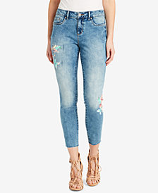 Jessica Simpson Juniors' Kiss Me Graphic Skinny Jeans