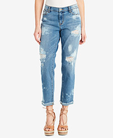 Jessica Simpson Juniors' Mika Ripped Best Friend Jeans