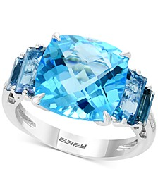 EFFY® Blue Topaz (10-1/5 ct. t.w.) & Diamond Accent Ring in 14k Rose Gold