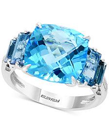 EFFY® Blue Topaz (10-1/5 ct. t.w.) & Diamond Accent Ring in 14k Rose Gold