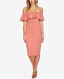 1.STATE Off-The-Shoulder Flounce Dress