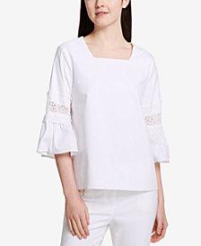 Calvin Klein Sheer-Lace Top