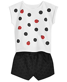 First Impressions Graphic-Print Top & Shorts Separates, Baby Girls. Created for Macy's