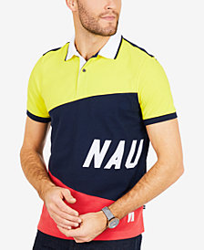Nautica Men's Signature Slim-Fit Colorblocked Performance Polo