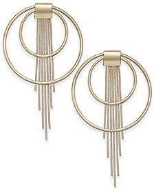 "Thalia Sodi Large 2"" Gold-Tone Circle Fringe Drop Earrings, Created for Macy's"