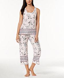 Linea Donatella Floral-Print Pajama Set