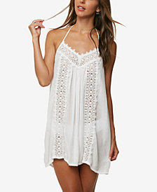 O'Neill Juniors' Waimea Embroidered Halter Dress Cover-Up