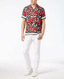 I.N.C. Men's Kalua Printed Shirt & Moto Skinny Jeans Separates, Created for Macy's