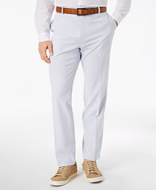 I.N.C. Men's Stretch Slim-Fit Seersucker Pants, Created for Macy's
