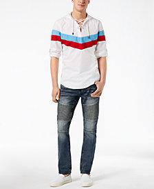 I.N.C. International Concepts Men's Hooded Shirt & Denim Jeans Separates, Created for Macy's