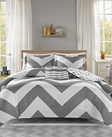 Libra Reversible 4-Pc. Full/Queen Duvet Cover Set