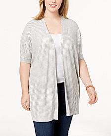 Celebrity Pink Trendy Plus Size Open-Front Cardigan
