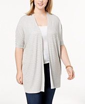 750837ea95194 Celebrity Pink Trendy Plus Size Open-Front Cardigan