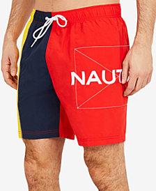 "Nautica Men's Patch Colorblocked 8"" Swim Trunks"