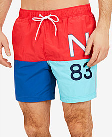 Nautica Men's N83 Quick-Dry Colorblocked Swim Trunks