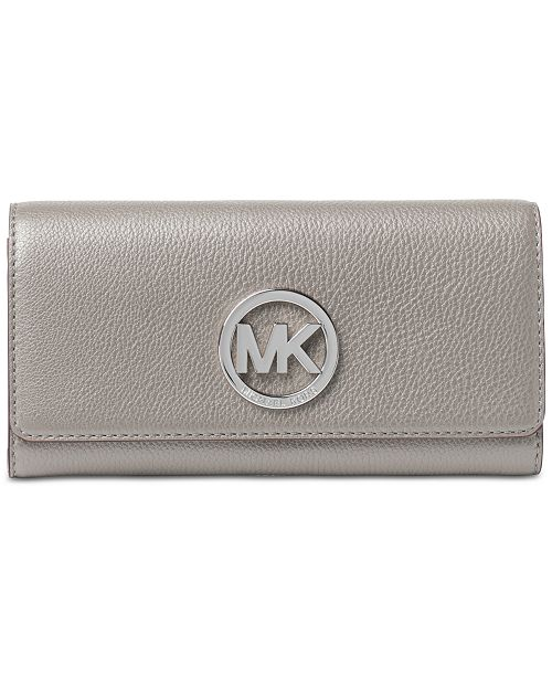 e897a516db9b Michael Kors Fulton Pebble Leather Wallet & Reviews - Handbags ...