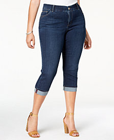 Lee Platinum Plus Size Slim Cropped Jeans