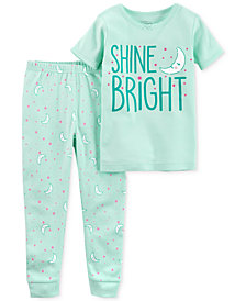 Carter's Little Planet Organics 2-Pc. Shine Bright Cotton Pajama Set, Baby Girls