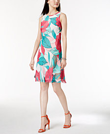 Nine West Sleeveless Floral Printed Dress