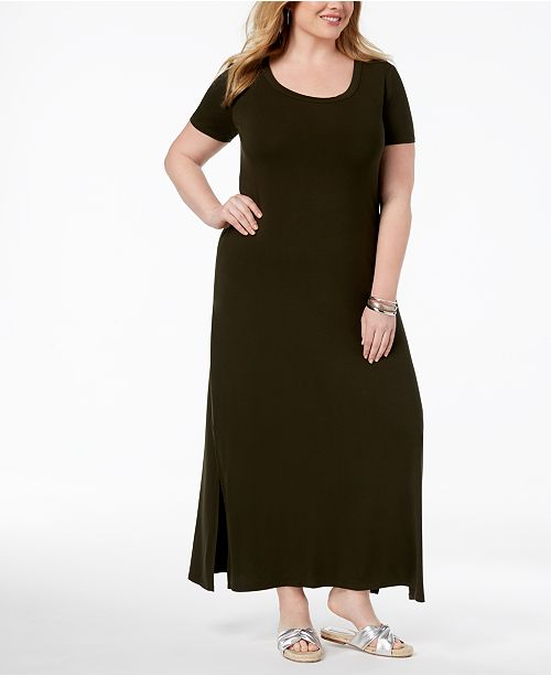 Plus Size T-Shirt Maxi Dress, Created for Macy\'s