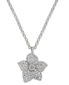 "kate spade new york Pavé Bloom Pendant Necklace, 17"" + 3"" extender"