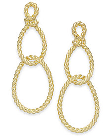 kate spade new york Gold-Tone Sailor's Knot Drop Earrings
