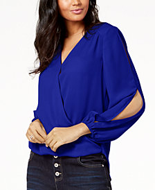 I.N.C. Petite Split-Sleeve Blouse, Created for Macy's