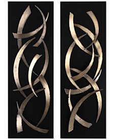 Brushstrokes 2-Pc. Metal Wall Art Set