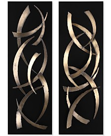 Uttermost Brushstrokes 2-Pc. Metal Wall Art Set