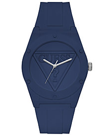 Guess  Iconic Logo Light Blue Silicone Strap Watch 42mm
