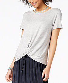 Style & Co Twist-Hem High-Low T-Shirt, Created for Macy's